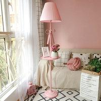 Artpad Nordic современный торшер принцессы розовой ткани абажур гладить E27 светодиодный стоял пол свет для свадьбы девушка Украшения в спальню