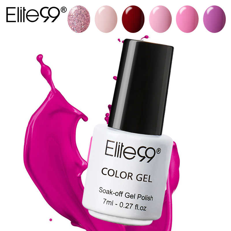 Elite99 7ml เจลเล็บสีเล็บเล็บภาษาโปลิชคำต้องการการบ่ม Soak Off เคลือบ LED UV เจล lacquer เล็บเคลือบเงา