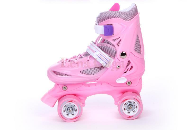 Children Roller Skates 4 Wheels Skates Kids Patins Quad 4 Wheel Roller Skates Speed Line Double Rollers Skates Boys Girls Gift children roller sneaker with one wheel led lighted flashing roller skates kids boy girl shoes zapatillas con ruedas