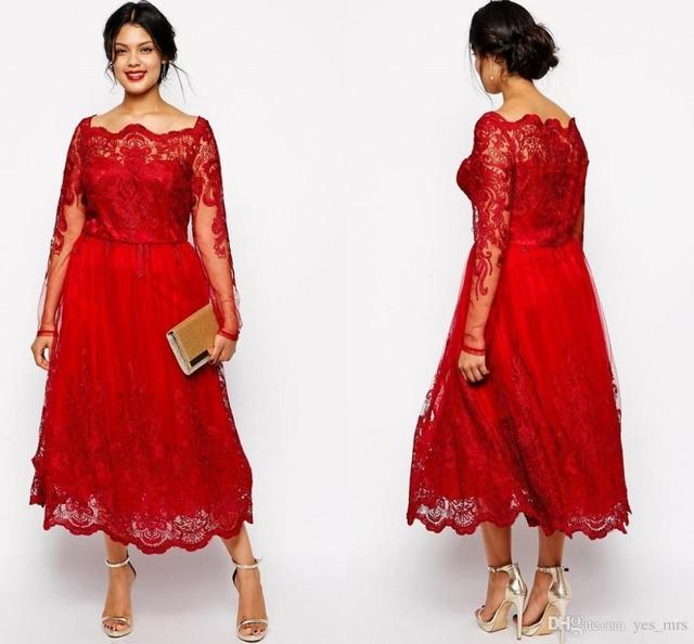 Vermelho 2017 Mãe Dos Vestidos de Noiva A Linha de Mangas Longas de Tule Apliques de Renda de Longo Mãe Vestido Vestidos de Noite Para Casamentos