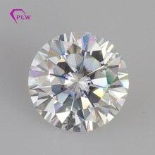 Parlak kesim beyaz renk GH 11mm 5ct VVS benzer elmas mücevher moissanite erkekler takı yüzük küpe bilezik