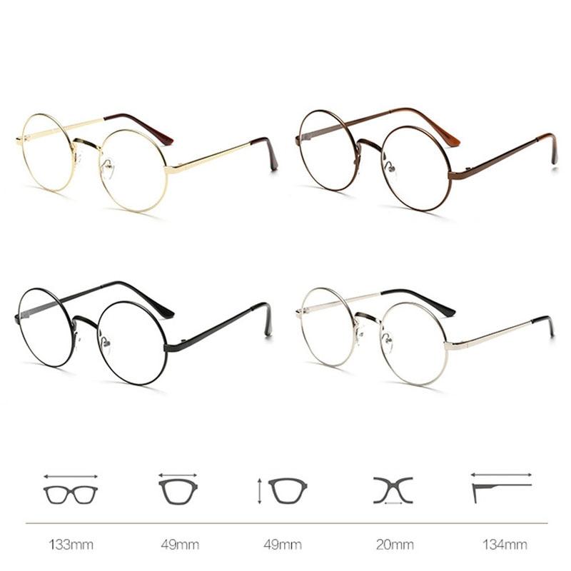 Vintage Unisex Retro Style Runde Metallrahmen Klare Linse Brille - Bekleidungszubehör - Foto 5