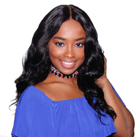 Sunny Queen Body Wave Lace Closure 4X4 Part Nature Color Brazilian Remy Human Hair Closures 10