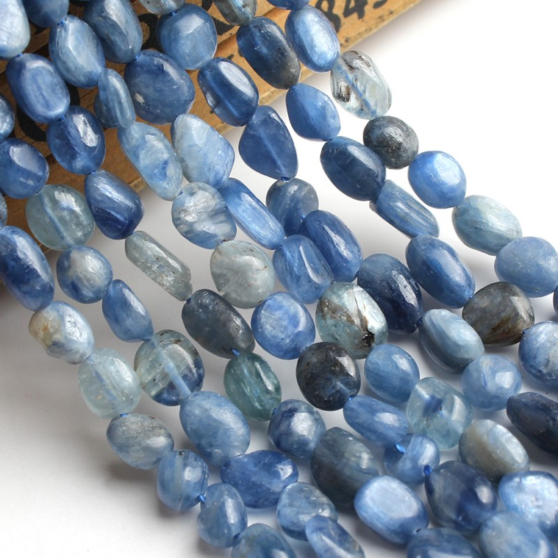 6-8mm Natural Stone Beads Irregular Blue Kyanite Stone Beads Loose Beads For Jewelry Making Bracelet Necklace 15inches
