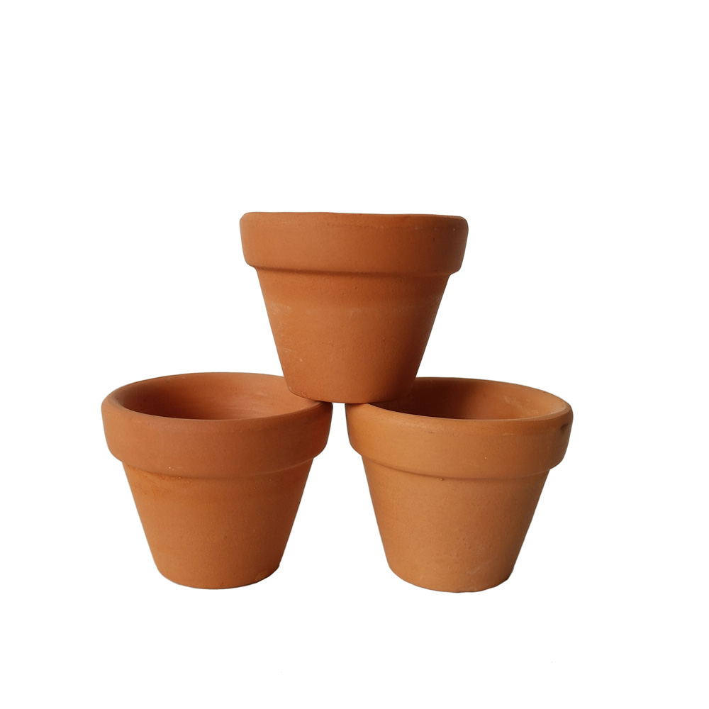 100pcs lot mini ceramic flower pot d5xh4cm clay succulent for 6 ceramic flower pots