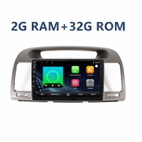 2din 9inch car Android GPS navigation Multimedia Player for toyota camry2002 2003 2004 2005 2006 with radio BT WIFI FM Map Video