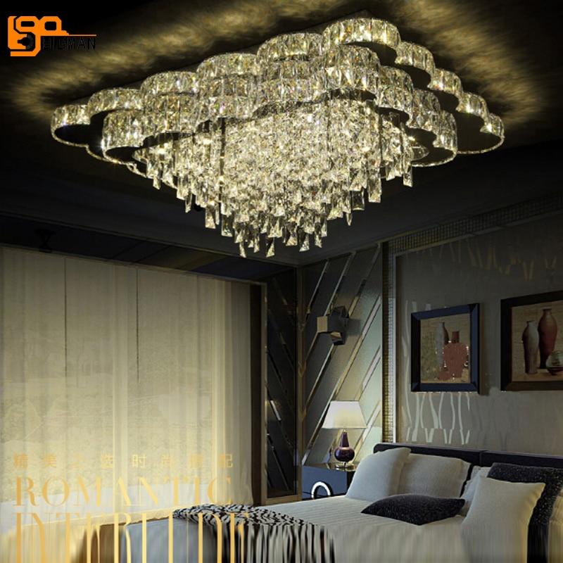 new modern led chandelier living room lights luxury crystal lamp led light for home decor indoor. Black Bedroom Furniture Sets. Home Design Ideas
