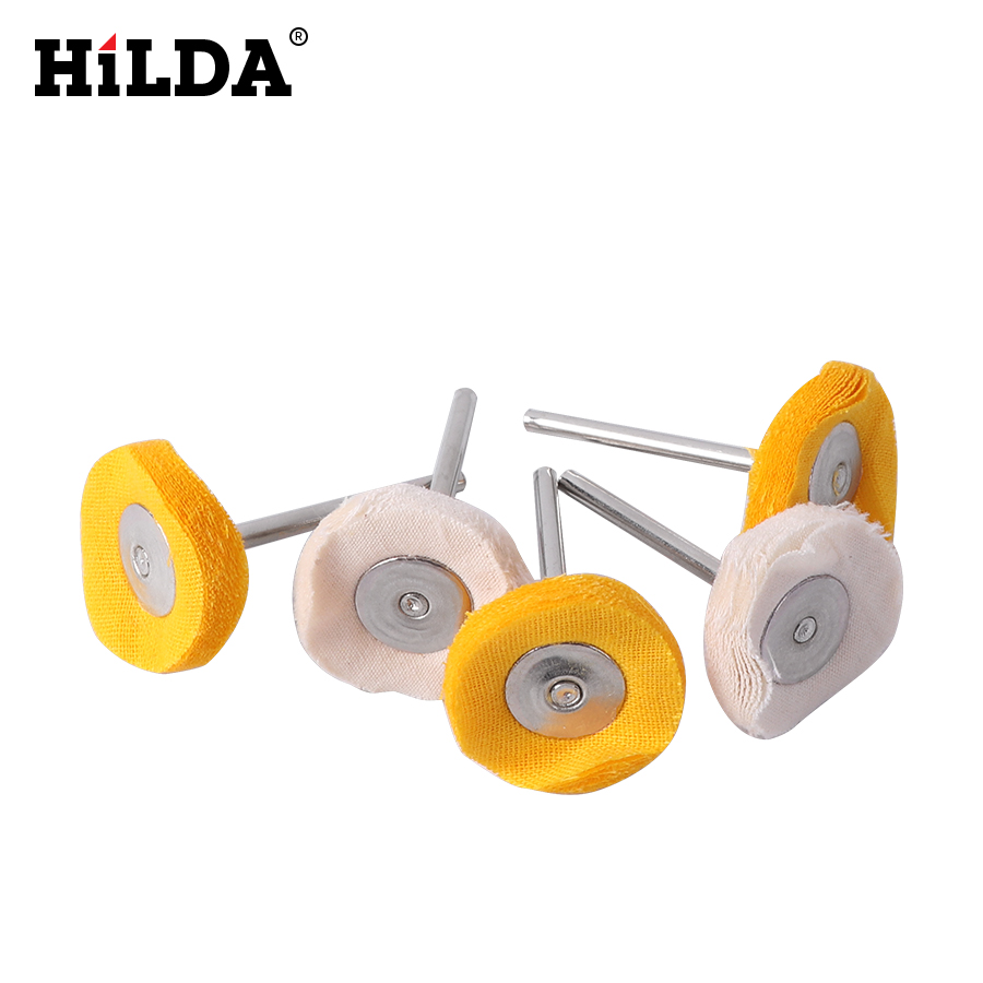 HILDA Polishing Buffing Wheel Grinding Head Woodworking Dremel Accessories Grinder Brushes For Wood Abrasive Tools 5 Pcs