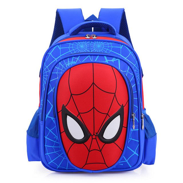 New Cartoon 3D Spiderman Backpacks Waterproof Nylon Backpack For Children Kids School Bags Backpack Boy Mochila