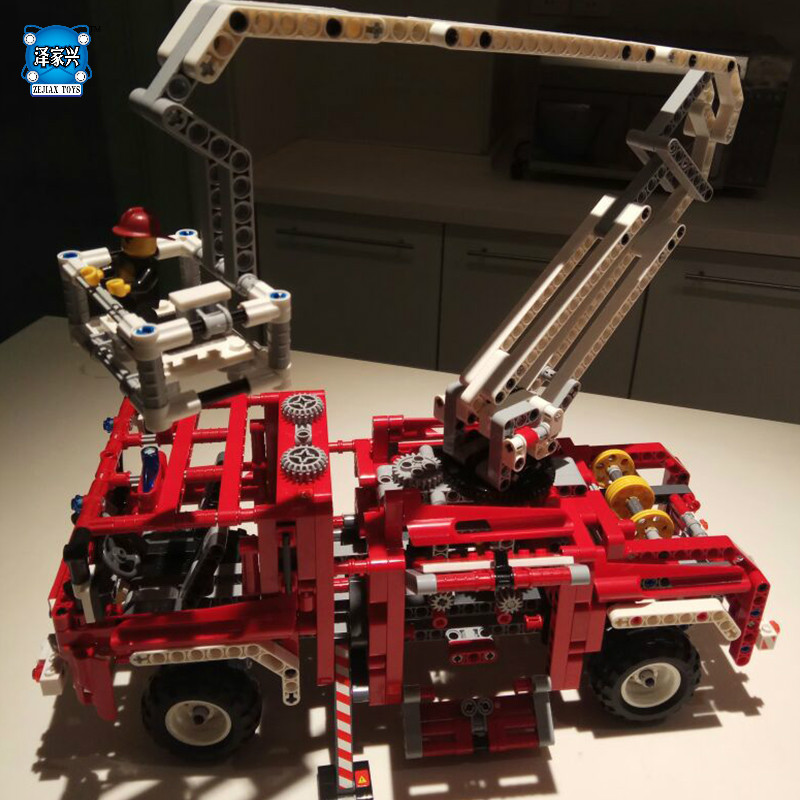 DIY Model Fire Truck Building Bricks Blocks Figures Toys for Children Game Model Car Gift Lorry Compatible with Lepins Technic fire maple sw28888 outdoor tactical motorcycling wild game abs helmet khaki