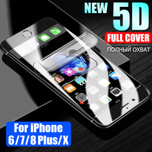 цена на 5D Full Cover Soft Hydrogel Film For iPhone 8 7 6 6S Plus Screen Protector Film For iPhone XS Max XR X 8 Plus Protective Film