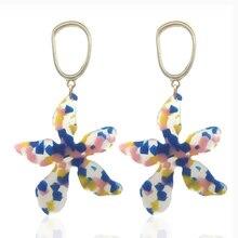 Earrings pendant ladies fashion zinc alloy printing plate oorbellen Bohemian Boucles doreilles earrings direct sales