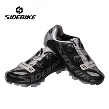SIDEBIKE Professional Bicycle Cycling Shoes Mountains BIke S2 Snap Knob Racing Athletic Shoes Breathable MTB Self