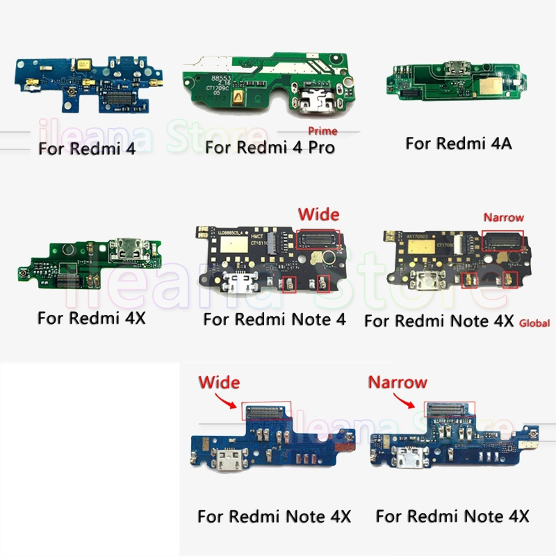 For Redmi 4 4A PCB USB Connector Port Board FPC Dock Charging Flex Cable For Xiaomi Redmi Note 4 4x Pro Prime Global