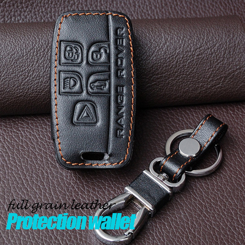 Leather Keychain Case For Land Rover Range Rover Sport A9 Discovery 2 3 4 Discovery Sport Evoque Freelander 2 Leather Key Holder коврики в салон novline land rover range rover sport 2005 2012 полиуретан 4 шт nlc 28 03 210