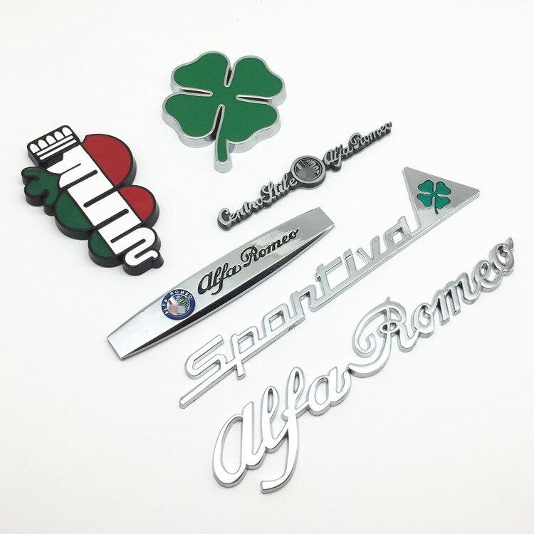 Adhesivos de guardabarros Sportiva Quatrefoil Green Delta para coche, pegatina para maletero, adhesivos de decoración de Interior, para Alfa Romeo, 10 Uds.