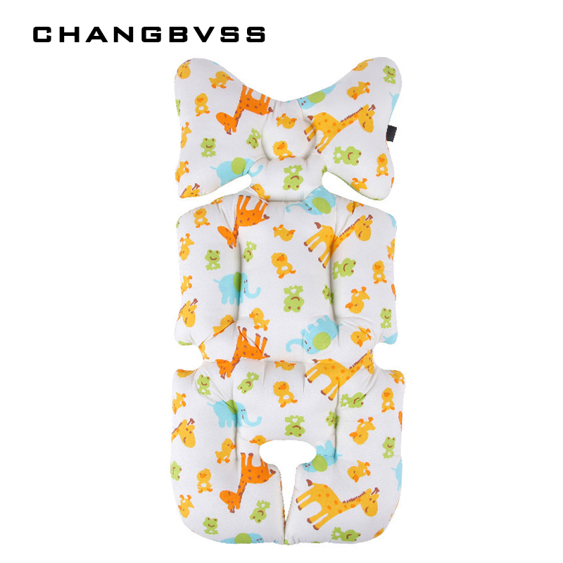 Deers Cartoon Car Seat Pad For Kids Cheap Baby Stroller Cushion Baby Prams Stroller Accessories Harness Pushchair Child Cart Mat