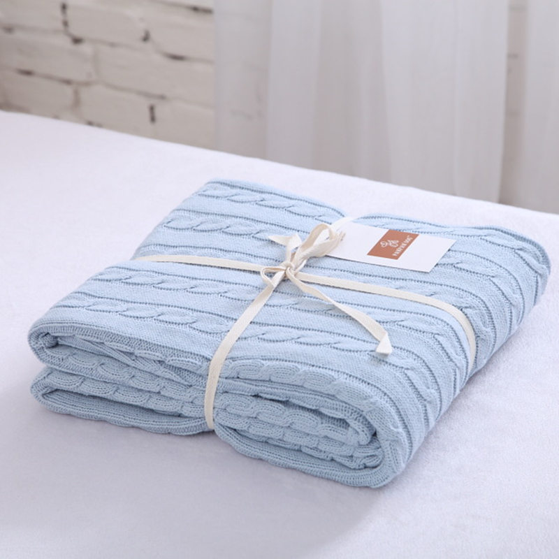 Soft blanket for beds yarn knitted polar plaid cotton nordic throw blanket for sofa adult travle home textiles