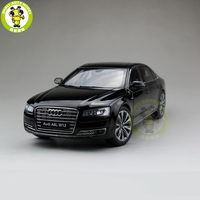 1/18 Audi A8L W12 2014 Diecast Metal Model Car Toy Kyosho 09232 Gift Hobby Collection Black