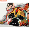 2017 Colorful Dog Abstract Photo DIY Digital Painting By Numbers Modern Animal Wall Art Picture By