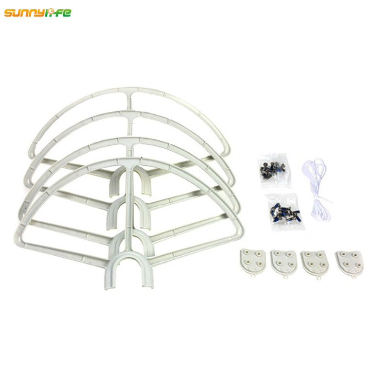 Sunnylife 4pcs lot Quick Release Propeller Crashproof Guard Protection Ring Props Bumper for DJI Phantom 1