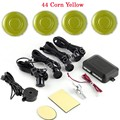 hot sale 44 colors for option Car Parking Sensor Assistance Reverse Backup Radar buzzer System 4 Sensors