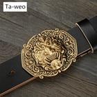Ta-weo Fashion Ghost Mask 2018 New Arrival Retro Genuine Leather Belt, Designer Belts Men High Quality