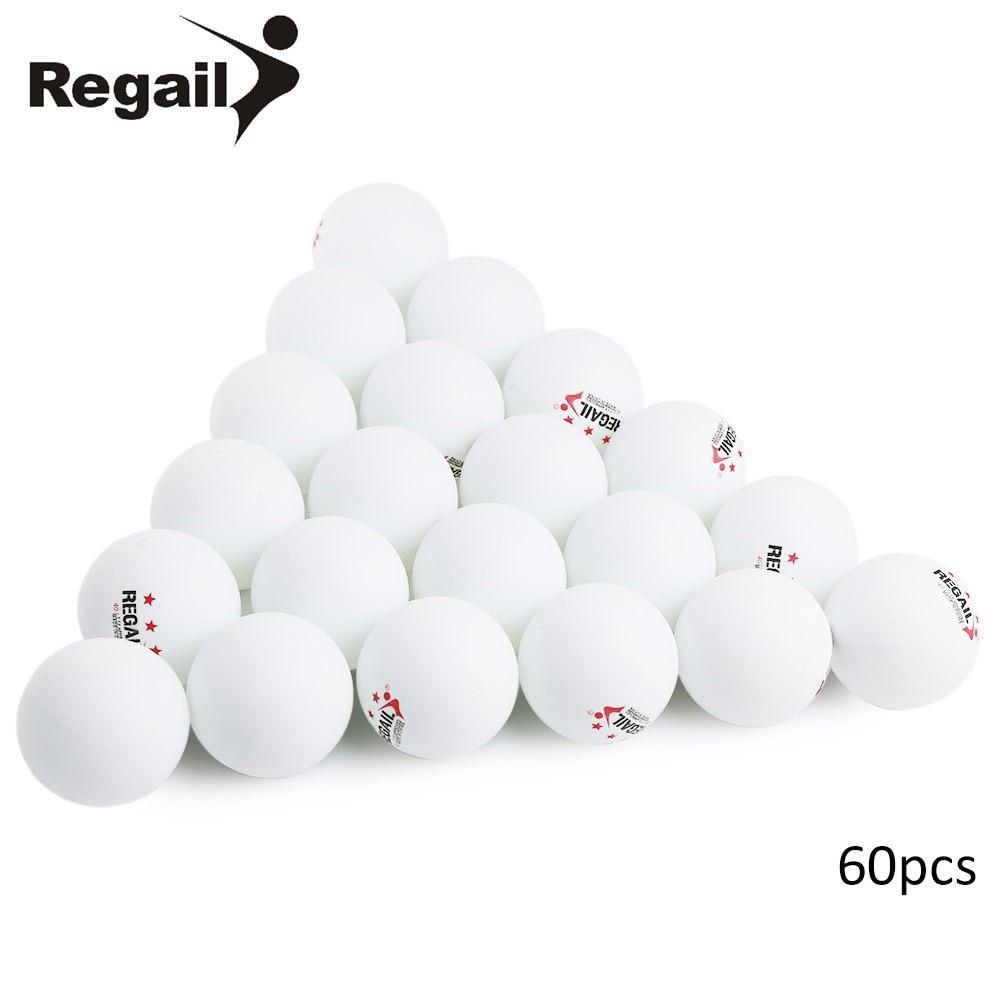 REGAIL 60pcs 2.6g/pcs Stand Table Tennis Balls 3 Star 40mm Practice Table Tennis Balls Tough Sports Entertainment Ping Pong Ball