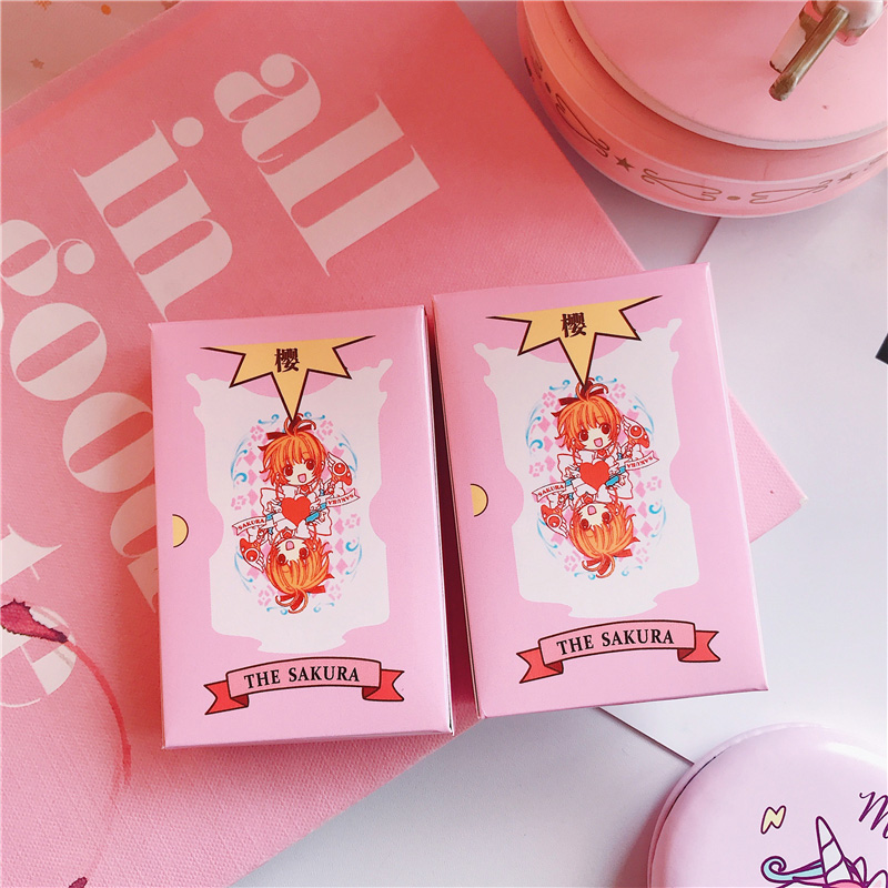 Pink Sakura Playing Cards Cartoon Cards Funny Board Game