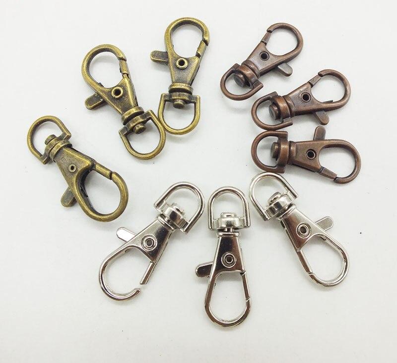 도매 1000 pcs 니켈 무료 38mm 실버 도금 회전 클립 회전 clasps 랍스터 claps lanyards 열쇠 고리에 대 한-에서열쇠고리부터 쥬얼리 및 액세서리 의  그룹 1