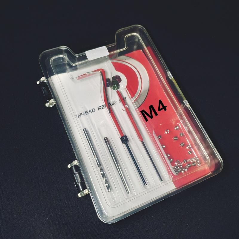 M4 Car Pro Coil Drill Tool Metric Thread Repair Insert Kit M4 for Helicoil Car Repair Tools Coarse Crowbar Screw tooth repair ki