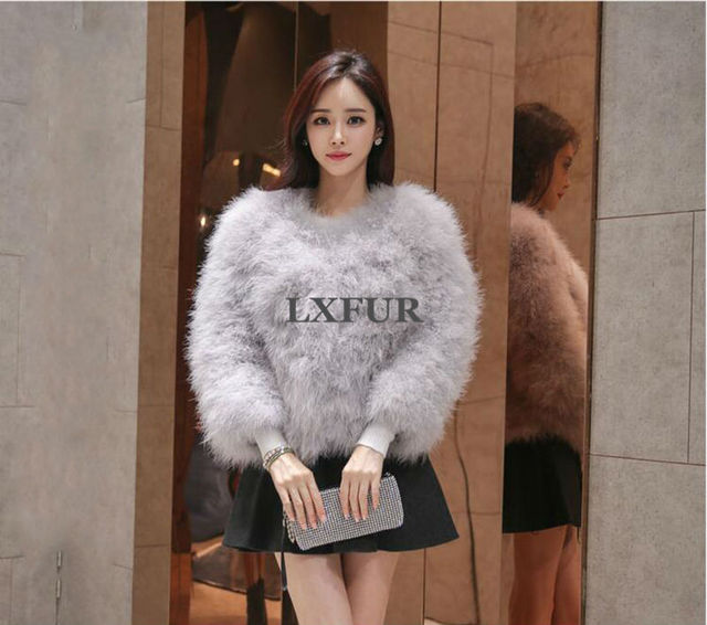 Aliexpress.com : Buy 2017 New Fashion Real Ostrich Fur Coats ...