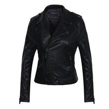 2019 pu ジャケット女性、送料無料 ブランド革ジャケット女性のオートバイのターンダウン襟