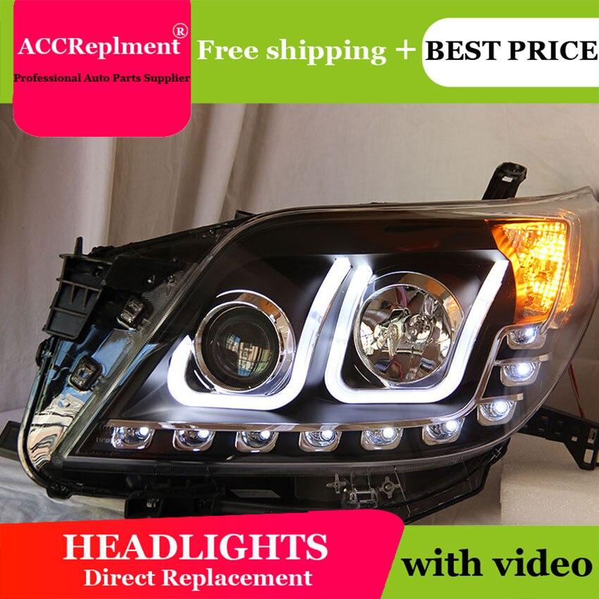 Auto Lighting Style LED Head Lamp for Toyota Prado F150 led headlights 2010 2012 led drl