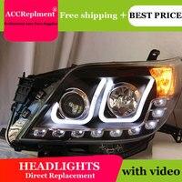 Auto Lighting Стиль светодиодный фара для Toyota Prado F150 светодиодный фары 2010 2012 светодиодный drl H7 hid Q5 Биксеноновая объектив ближнего света