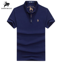 91ee79094 Brand 2019 Fashion Personality Mens Letter Embroidery Polo Shirt Homme  Yellow Black Polos Flag High Quality