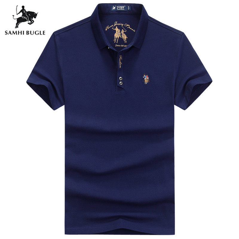 Polo Shirt Men Personality Mens  Letter Embroidery Polo Ralphlauren Men Yellow Black Polos Flag High Quality Men Clothing