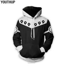 YOUTHUP Fashion Hoodies Mannen De Sharingan Print Hoody Mannen Cool Trui Cosplay Naruto Uchibo Hoodies Streetwear