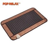 POP RELAX Tourmaline Stone Massage Mat Anion Far Infrared Heating Thermal Physiotherapy Jade Germanium Mat Health Care Mattress