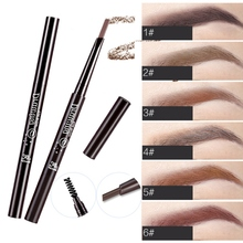 2019 Automatic Rotation Eyebrow Pencil With Eyebrow Brush Waterproof Smudge-proof Easy To Color Double-end Eyebrow Pen stylish leopard pattern double end waterproof smudge proof eyebrow pencil with brush