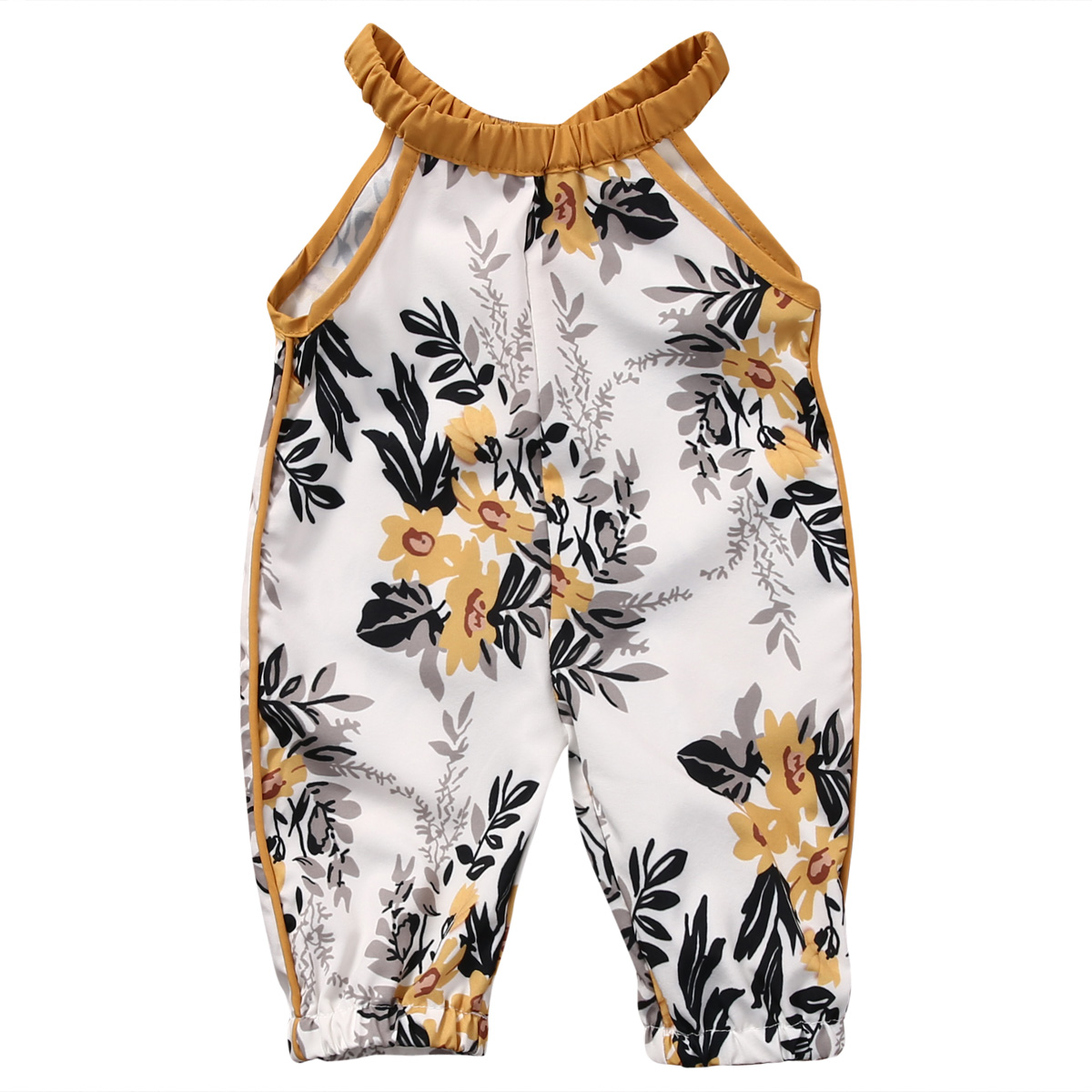 Newborn Toddler Baby Girls Rompers Sleeveless Floral Jumpsuit Clothes Sunflower Summer Outfits