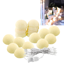 20 Aladin LED Romantic Cotton Ball Gorgeous String Light Ivory White Party Christmas Tree Decor Decoration 3M