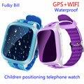 GPS Telefone Do Relógio inteligente Crianças Kid relógio de Pulso DS18 GSM GPS wi-fi Localizador Rastreador Anti-Perdida Smartwatch Criança PK Q80 V7K Q90 Q50