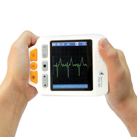 Heal Force Prince 180D Easy Handheld ECG Monitoring Machine Mini Portable LCD Electrocardiogram Heart Monitor Health Care