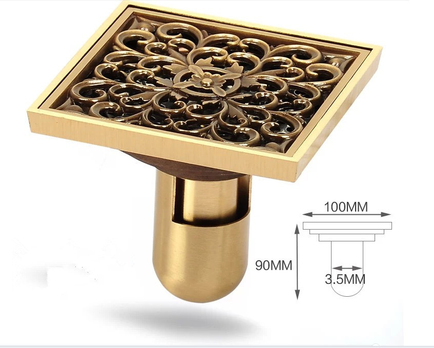 Return Check Design+flooding Design Brass Luxury Brass Flower Decorative  Cover Bathroom Floor Waste Grate Shower Drain In Drains From Home  Improvement On ...