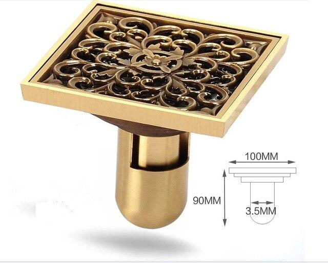 Exceptionnel Return Check Design+flooding Design Brass Luxury Brass Flower Decorative  Cover Bathroom Floor Waste Grate