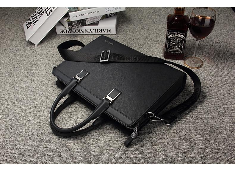 HTB1oqmbuhSYBuNjSsphq6zGvVXai BISON DENIM Genuine Leather Handbag Men Business Messenger Bag 14'' Laptop Tablet leather Shoulder Bag Crossbody Male bags N2317