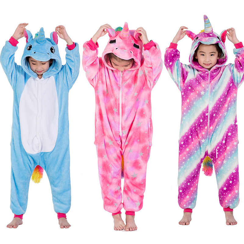 Животных для мальчиков и девочек пижамы мультфильм шитая Пижама Косплэй  детская одежда зимние унисекс фланель Panda 833af47c6bc4f