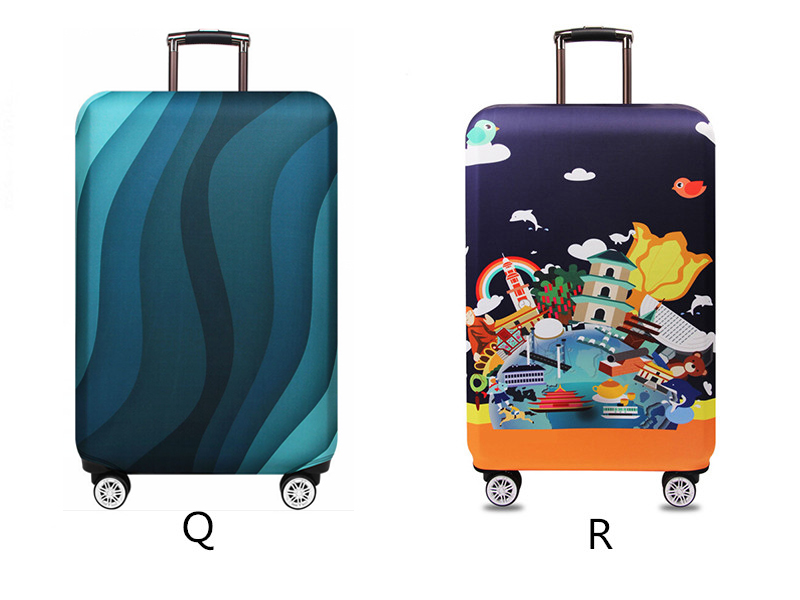 Thicker Travel Luggage Protective Cover Suitcase Case Travel Accessories Elastic Luggage Dust Cover Apply to 18''-32'' Suitcase 14
