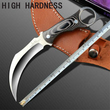 Karambit Knife United Claw Cutter Fixed Blade Knife Micarta Handle Tactical Knifes Camping hunting survival knives Free shipping